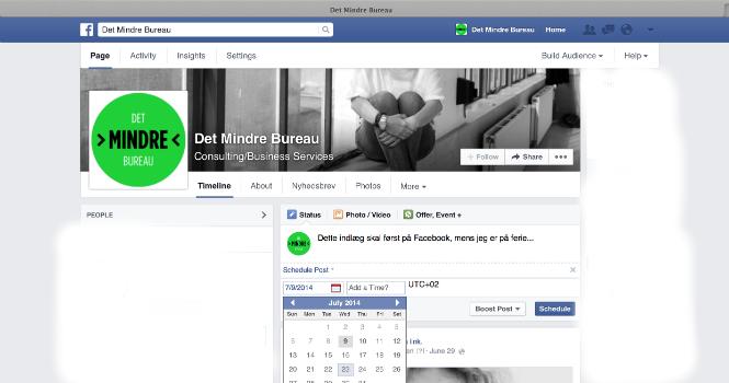Styr tiden på Facebook